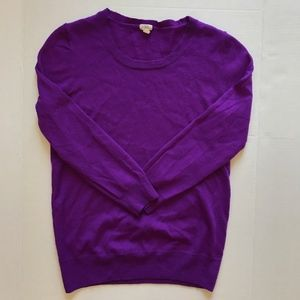 J. Crew Royal 100% Purple Merino Wool Sweater